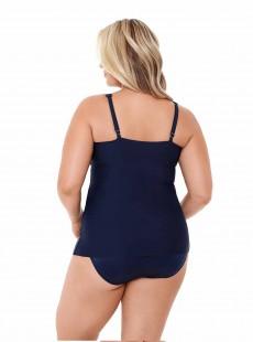 "Tankini Surplice bleu nuit - Solid - ""M"" - Miraclesuit Swimwear"