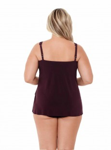 "Mirage Tankini Top Shiraz- Illusionists - ""W"" - Miraclesuit Swimwear"