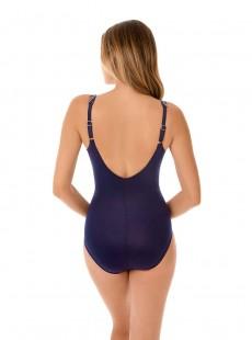 "Maillot de bain gainant Oceanus Bleu Nuit - Belmont Stripe - ""M"" - Miraclesuit swimwear"