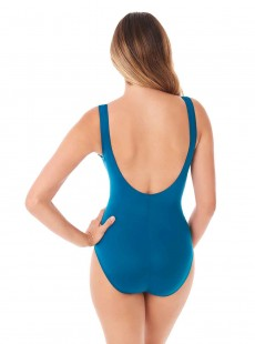"Maillot de bain gainant Escape Bleu Canard - Must Haves - ""M"" - Miraclesuit swimwear"