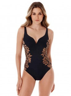 """Maillot de bain gainant Temptress Noir - Gilted As Charged - """"M"""" - Miraclesuit swimwear"""