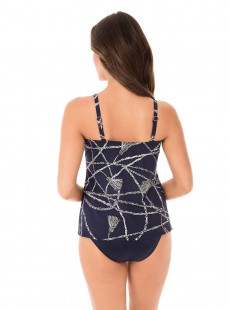 "Love Knot Tankini Top Bleu Nuit - Thoroughbred - ""M"" - Miraclesuit swimwear"