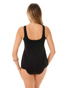 "Ursula Tankini Top Noir - Illusionists - ""M"" -Miraclesuit Swimwear"
