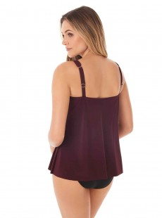 "Mirage Tankini Top Shiraz- Illusionists - ""M"" -Miraclesuit Swimwear"
