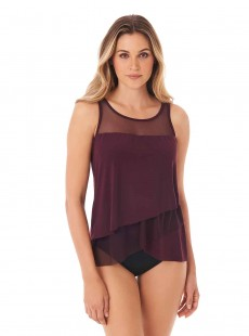 "Tankini Mirage bordeaux - Illustionists - ""FC"" - Miraclesuit Swimwear"