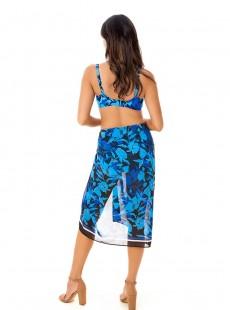 """Pareo Bleu - Petal Play- """"M"""" - Miraclesuit Swimwear"""