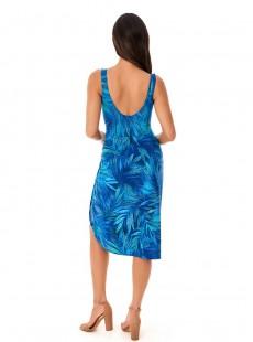 "Pareo Long Sarong Bleu - Best Fronds Ever - ""M"" - Miraclesuit swimwear"