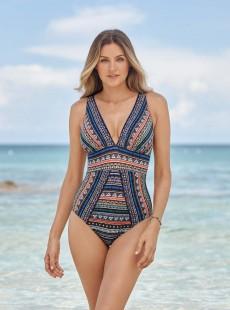 """Maillot de bain gainant Odyssey Multicolores - Portofino - """"M"""" - Miraclesuit swimwear"""