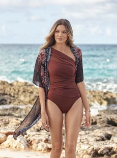 "Maillot de bain gainant Jena Tamarind - Network - ""M"" - Miraclesuit Swimwear"