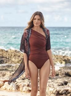 "Robe de bain Beach Wrap Noi/Imprimés à fleurs - Mendhika - "" M "" - Miraclesuit Swimwear"