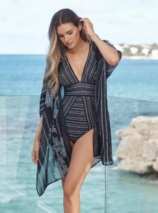 "Robe de bain Beach Wrap Imprimés à rayures - No static - "" M "" - Miraclesuit Swimwear"