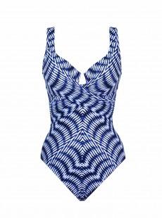 """Maillot de bain gainant Criss Cross Escape Bleu - Hypnotique - """"M"""" - Miraclesuit swimwear"""