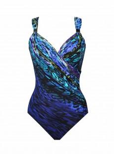 """Maillot de bain 1 pièce gainant Siren bleu - Scheherazade - """" M """" - Miraclesuit Swimwear"""