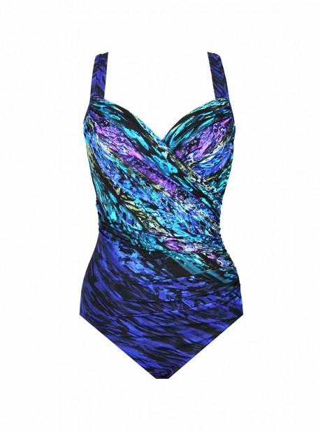 """Maillot de bain une pièce gainant Seraphina bleu - Scheherazade - """"M"""" - Miraclesuit Swimwear"""