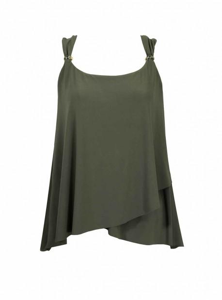 "Dazzle Tankini Top Vert - Razzle Dazzle - ""M"" - Miraclesuit Swimwear"