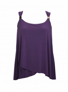 "Dazzle Tankini Top Violet - Razzle Dazzle - ""M"" - Miraclesuit Swimwear"