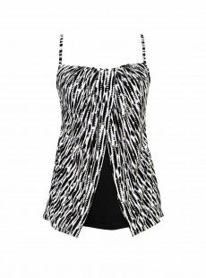 "Tankini Jubilee Bi-colore noir - Pyrite -""M"" - Miraclesuit Swimwear"
