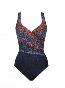 """Maillot de bain gainant It's a Wrap Imprimés graphiques multicolores - Tramonto Belle - """"M"""" - Miraclesuit swimwear"""