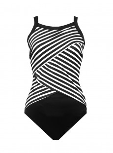 "Maillot de bain Colorblock Highneck New Direction Noir - ""M"" - Miraclesuit"