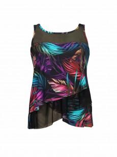"Tankini Mirage Imprimés fleuris multicolores - Mystical Palms - ""M"" - Miraclesuit Swimwear"