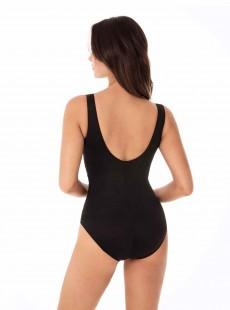 """Maillot de bain gainant Layered Escape Bi-colore noir - Pyrite - """"M"""" - Miraclesuit swimwear"""