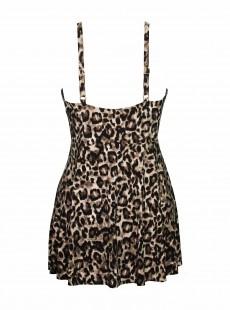 "Robe de bain gainante Adora Leopard - Belle Gattino - ""M"" - Miraclesuit Swimwear"