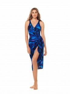 """Pareo Long Sarong Imprimés Bleu - Nuage Bleu - """"M"""" - Miraclesuit swimwear"""
