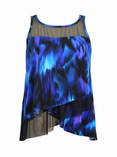"Mirage Tankini Top Imprimés Bleu - Nuage Bleu - ""M"" - Miraclesuit swimwear"