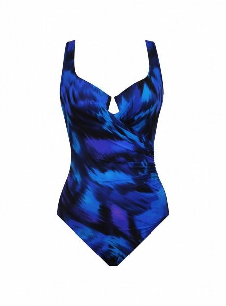 """Maillot de bain gainant Escape Imprimés Bleu - Nuage Bleu - """"M"""" - Miraclesuit swimwear"""