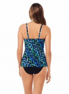 "Love Knot Tankini Top Imprimés graphique bleu vert - Jewels Of The Nile - ""M"" - Miraclesuit swimwear"