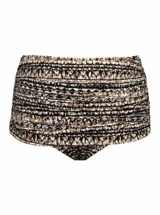 """Culotte de bain Noire Norma-Jean à motifs Noir et Doré - Golden Lynx -  """"M"""" - Miraclesuit Swimwear"""