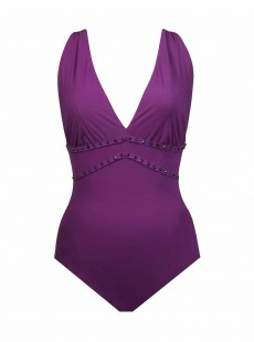 Maillot de bain lissant 1 pièce Lupita Violet - Romancing the Stone - Amoressa