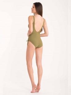 Maillot de bain sculptant 1 pièce Mirabasic Diana Laces - Vert - Miradonna