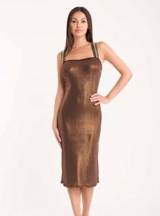 Robe longue - Metallic Gros Cloe - Miradonna