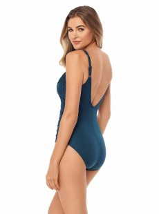 "Maillot de bain gainant Sanibel Bleu Turquoise - Must haves -  ""FC"" - Miraclesuit Swimwear"