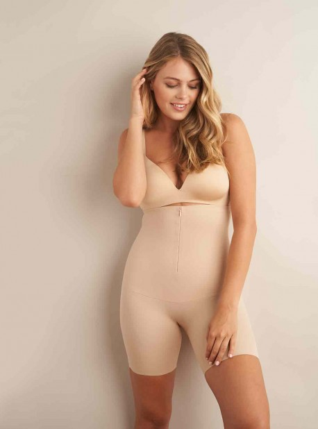 Panty gainant taille haute Nude - Zip smooth - Miraclesuit Shapewear
