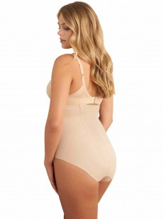 Culotte gainante taille haute Nude - Zip Smooth - Miraclesuit Shapewear