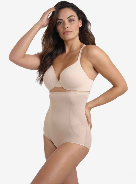 Culotte gainante taille haute Nude - Fit & Firm - Miraclesuit Shapewear