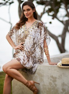 "Accessoire Caftan  cover-up - Sheer Safari - ""M"""