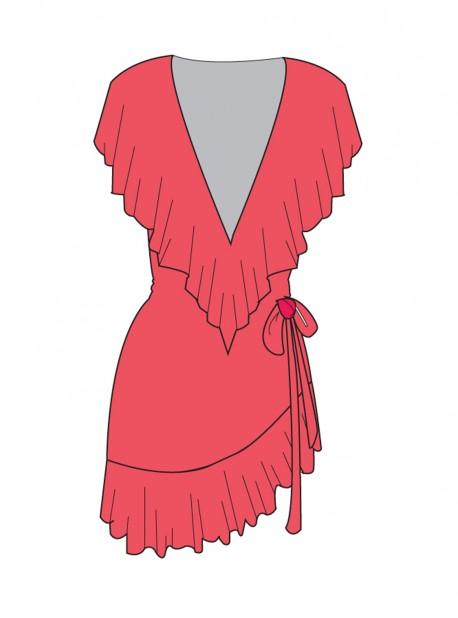 Robe asymétrique Hot Mess - Cosita Buena