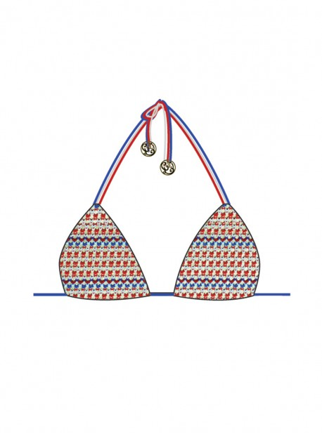 Haut de maillot de bain triangle bikini - American Dream