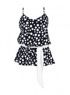 "Tankini Whimsy Dot's Hot - ""M"" - Miraclesuit"