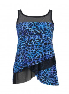 "Tankini Mirage Purr Fection Bleu - ""M"""