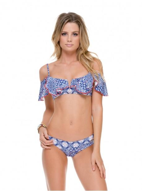 Haut de maillot de bain triangle bikini col Bardot - Naughty Girl