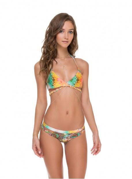 Haut de maillot de bain triangle croisé réversible - Sol Multicolor