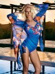 Robe chemise - Blue Flowers