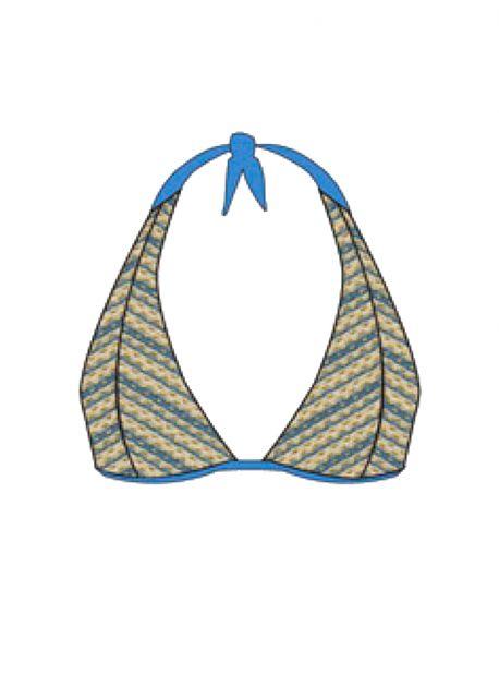 Haut de maillot de bain triangle Blue Moon - Desert Babe - Luli Fama