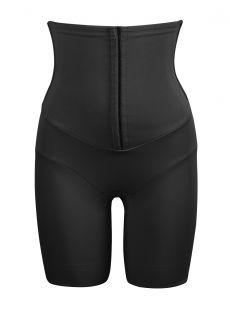 Panty taille haute gainant noir avec ceinture agrafes intégrée - Inches Off