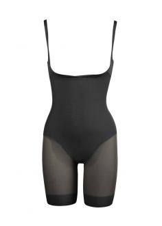 Combinaison panty noire - Sexy sheer - Miraclesuit Shapewear