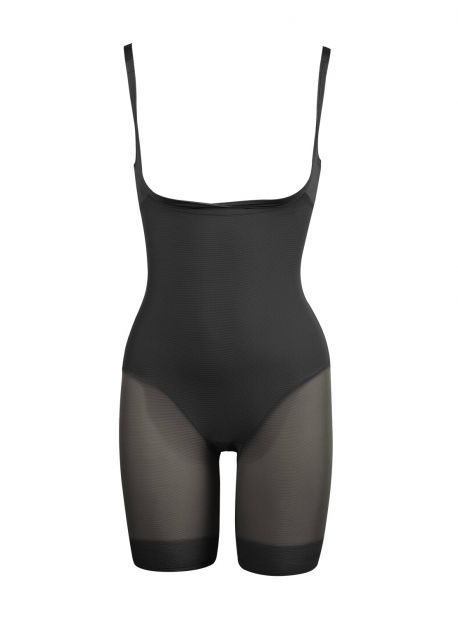 Combinaison panty noire extra-ferme - Sexy Sheer Shaping - Miraclesuit Shapewear